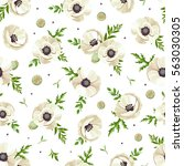 vector seamless pattern with... | Shutterstock .eps vector #563030305