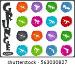 hand weapons icon set for web...   Shutterstock .eps vector #563030827