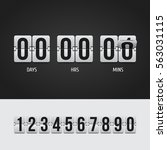 countdown timer. clock counter. ... | Shutterstock .eps vector #563031115