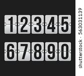 set of numbers on a mechanical... | Shutterstock .eps vector #563031139