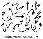 doodles of different arrow... | Shutterstock .eps vector #563033275