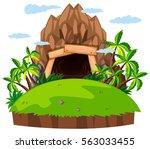 mine entrance on the island... | Shutterstock .eps vector #563033455