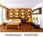 modern interior bedroom with...   Shutterstock . vector #56303530