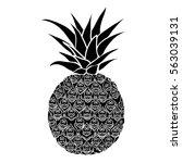 pineapple silhouette   vector...   Shutterstock .eps vector #563039131