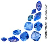 cornet from blue sapphire gems... | Shutterstock . vector #563039869