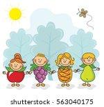 fruity kids collection | Shutterstock .eps vector #563040175