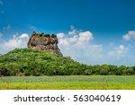 sigiriya lion rock fortress ...   Shutterstock . vector #563040619