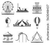 Set Of Amusement Park...