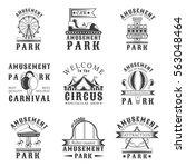 amusement park set of vector... | Shutterstock .eps vector #563048464