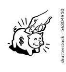 piggy bank   retro clip art | Shutterstock .eps vector #56304910