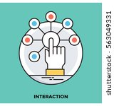 interaction vector icon | Shutterstock .eps vector #563049331