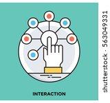 interaction vector icon   Shutterstock .eps vector #563049331