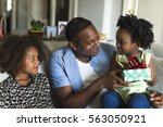 african descent family house... | Shutterstock . vector #563050921