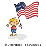 usa flag kids collection | Shutterstock .eps vector #563050981