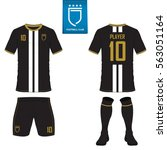 set of soccer kit or football... | Shutterstock .eps vector #563051164