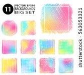 doodle frames backgrounds set.... | Shutterstock .eps vector #563053321