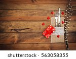 valentine table set | Shutterstock . vector #563058355