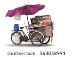 Isolated Cart Street Food With...