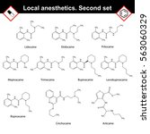 local anesthetics of amide... | Shutterstock . vector #563060329