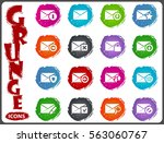 mail and envelope icon set for... | Shutterstock .eps vector #563060767