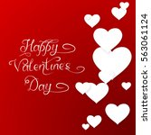 valentines card with... | Shutterstock .eps vector #563061124