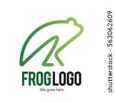 frog toad logo icon symbol... | Shutterstock .eps vector #563062609