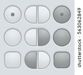 buttons set. user interface...