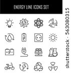set of energy icons in modern... | Shutterstock .eps vector #563080315