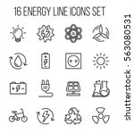 set of energy icons in modern... | Shutterstock .eps vector #563080531