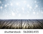 winter background scene with... | Shutterstock . vector #563081455