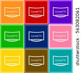 curved led tv vector icon for... | Shutterstock .eps vector #563082061