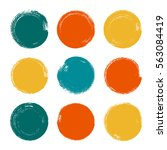 vector brush strokes circles of ... | Shutterstock .eps vector #563084419