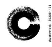 vector brush strokes circles of ... | Shutterstock .eps vector #563084431