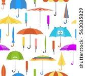 set of vector cute multicolor...   Shutterstock .eps vector #563085829