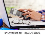 accounting | Shutterstock . vector #563091001