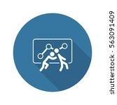 teamwork icon. flat design. one ...