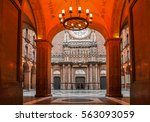 spain   2016. entrance to the... | Shutterstock . vector #563093059