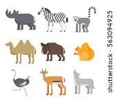 vector flat style set of... | Shutterstock .eps vector #563094925