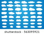 clouds vector big set. white... | Shutterstock .eps vector #563095921