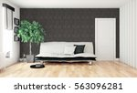 modern bright interior . 3d... | Shutterstock . vector #563096281