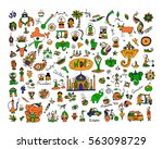 india  icons collection. sketch ... | Shutterstock .eps vector #563098729