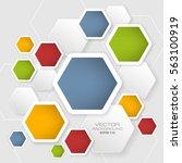 geometric vector background... | Shutterstock .eps vector #563100919