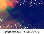 geometric abstract background... | Shutterstock .eps vector #563100979