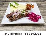 lula kebab.traditional oriental ... | Shutterstock . vector #563102011