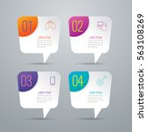 infographic design vector and... | Shutterstock .eps vector #563108269