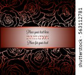 romantic background with... | Shutterstock .eps vector #563112781