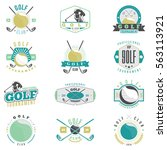 golf tournament  and club... | Shutterstock .eps vector #563113921