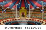circus carnival tent marquee.... | Shutterstock . vector #563114719
