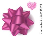 pink  realistic gift bow from... | Shutterstock .eps vector #563115091