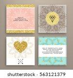 wedding invitation card or... | Shutterstock .eps vector #563121379